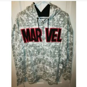 Marvel Avengers All Over Print Hoodie Sweatshirt